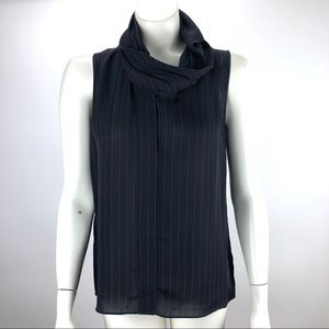 Theory Silk Pullover Blouse Top Black - Size P